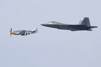 Heritage Flight ~ F-22 Raptor and P-51 Mustang