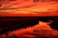 Sunset over the marsh at Warf Road in Egg Harbor Township 11.14.11
